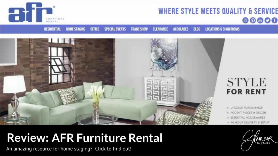 Glamour by jenai k review afr furniture rental Furniture in rental home